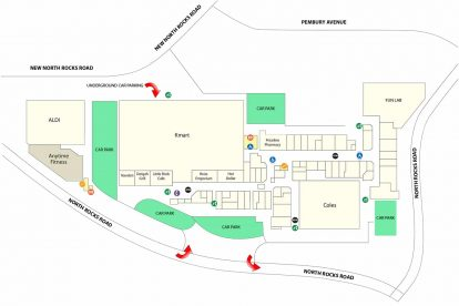 North Rocks Shopping Centre map 1