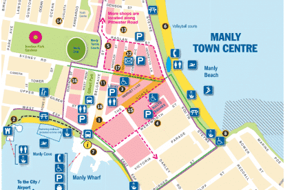 Manly Cove Beach map 1