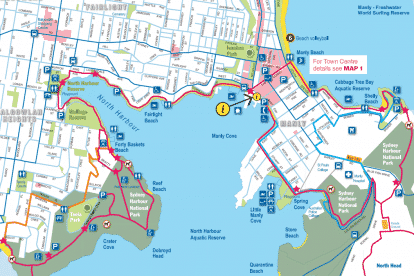 Manly Cove Beach map 2